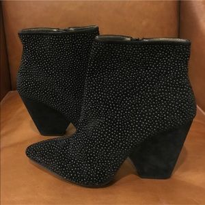 Vintage by Jeffrey Campbell Stud Suede Ankle Boots